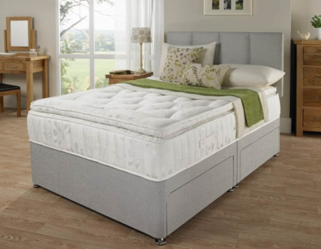 Isabella Divan Bed with Superior Comfort 3000 Pocket Spring Pillow Top Mattress and Matching Headboard