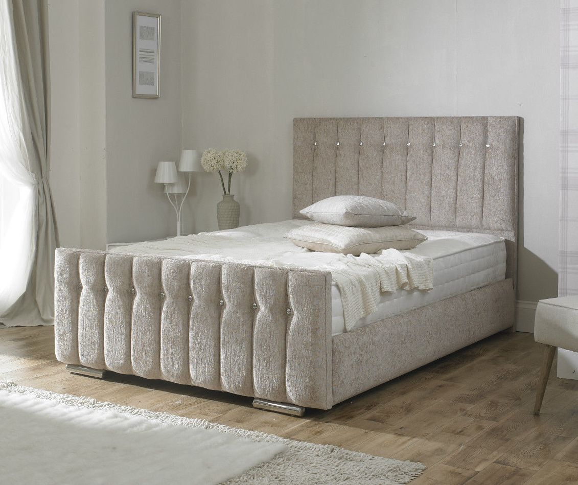 Diana Bed Frame With A Diamante Crystal Finish