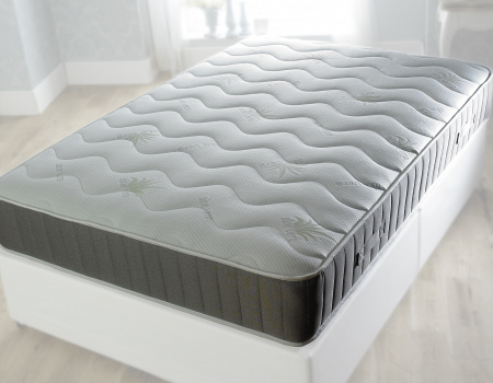 Abigail Aloe Vera 1500 Pocket Memory Foam Quilted Top