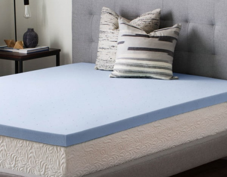 Leaf Cool Blue Memory Foam Topper