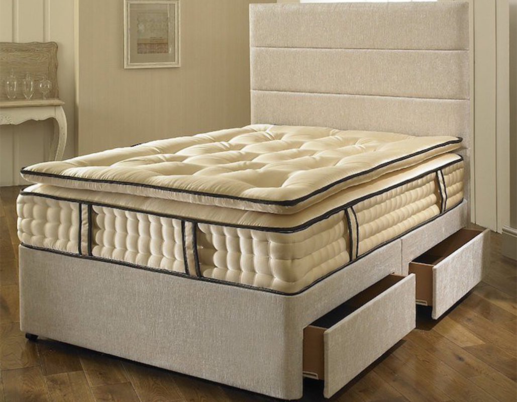 Elizabeth Divan Bed with  2000 Pocket Spring Pillow Top Mattress