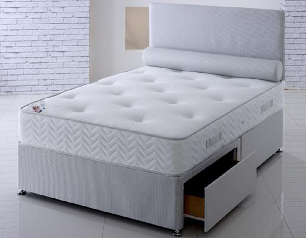 Ernest Grey Quilted Pocket Memory Foam Mattress With Storage Option