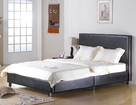 Faux Leather Fusion Bed