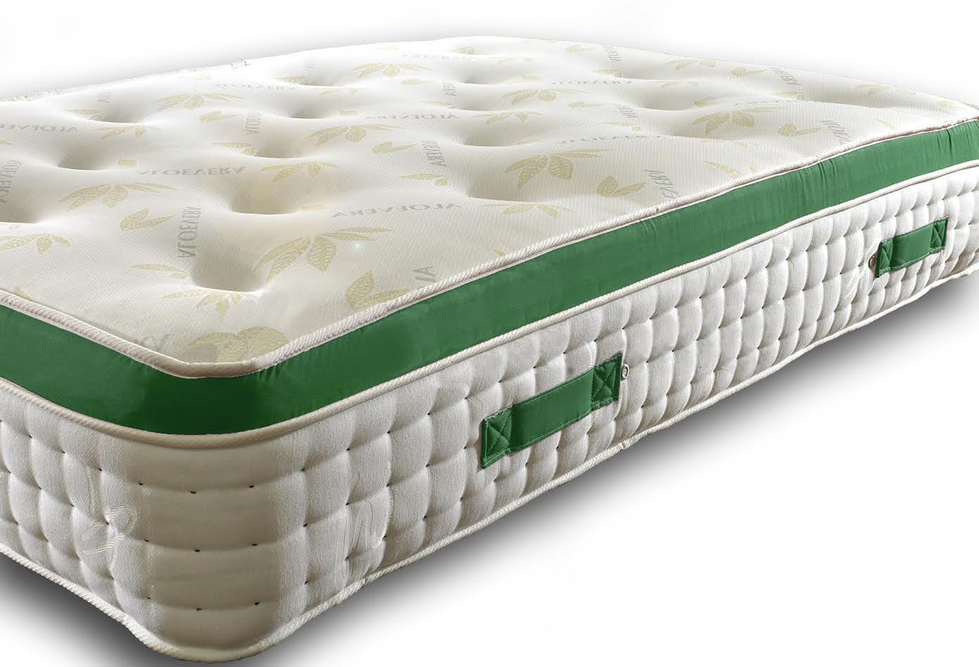 Leo 2000 Pocket Spring Pillow Top Mattress With Green Border Tack