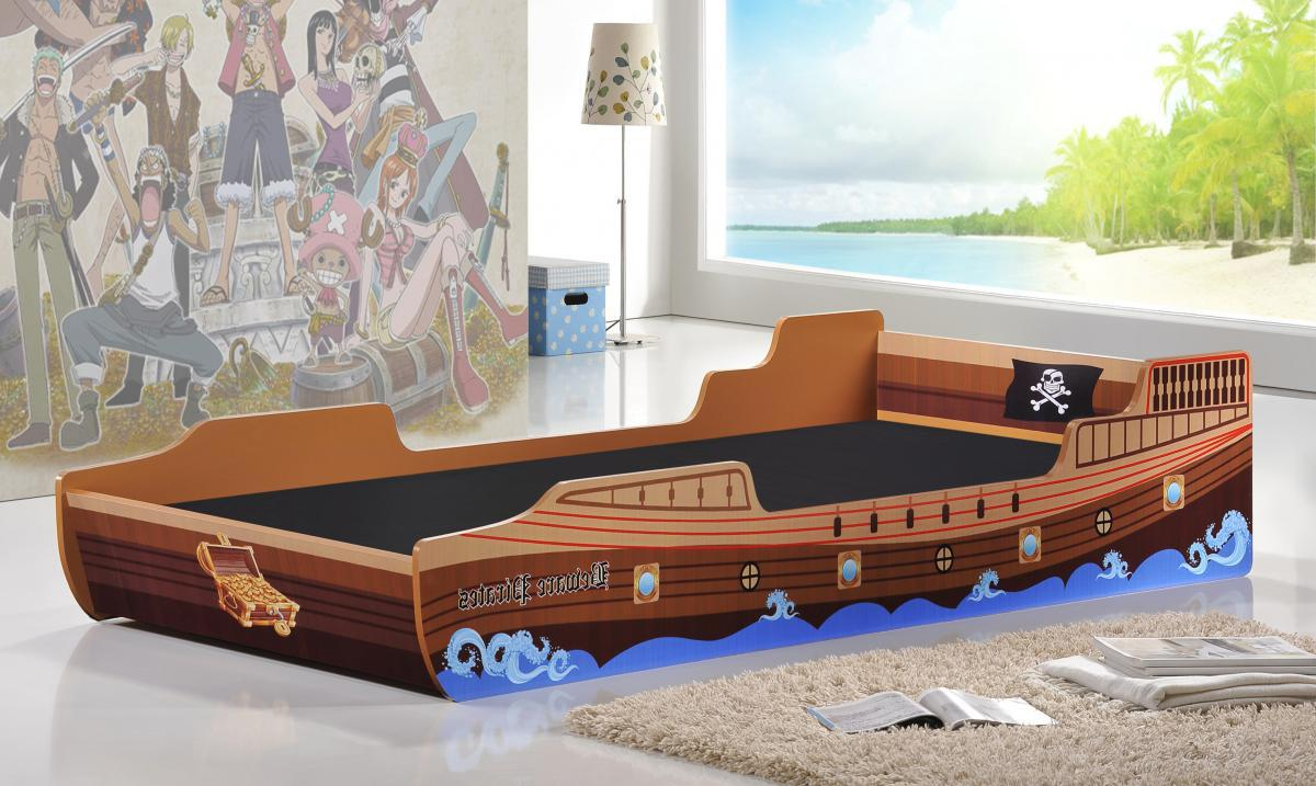 Caribbean Single Pirate Ship Bed Mattress