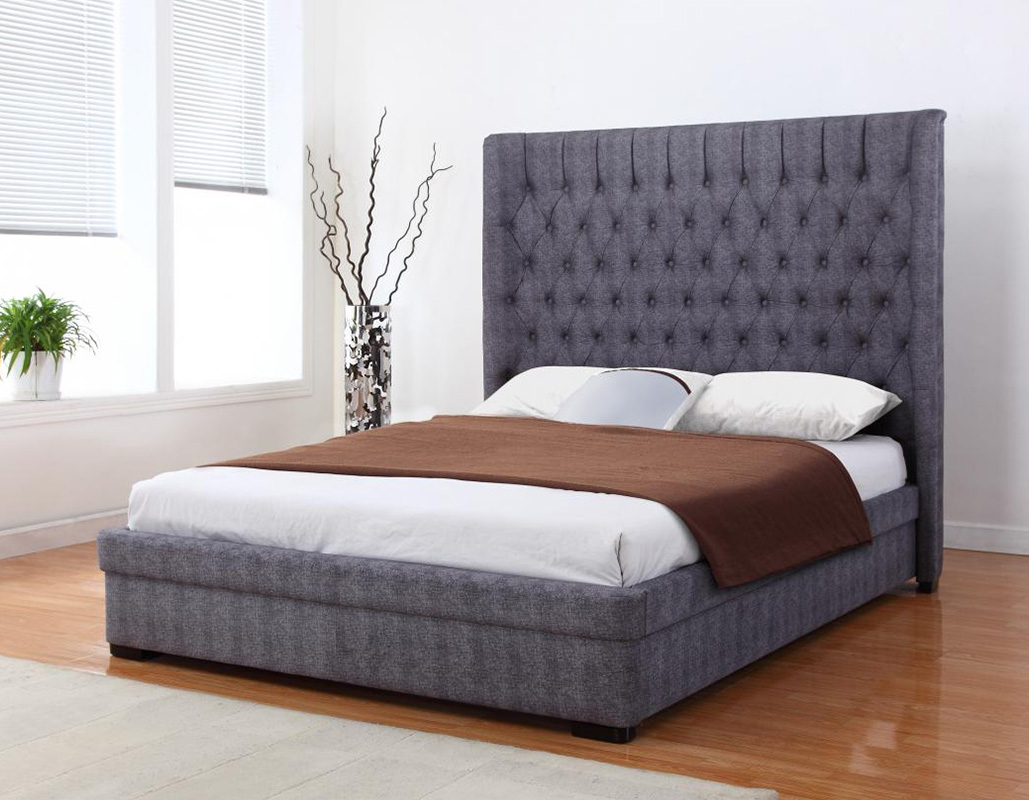 Genesis Double King Dark Grey linen Bed