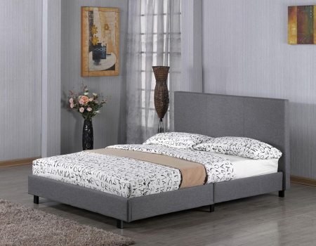 Fusion Grey Linen Fabric Bed