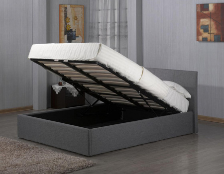 Fusion Storage Grey Linen Bed