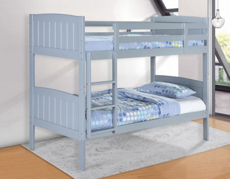 Hayes Solid Wooden Grey Bunk Bed