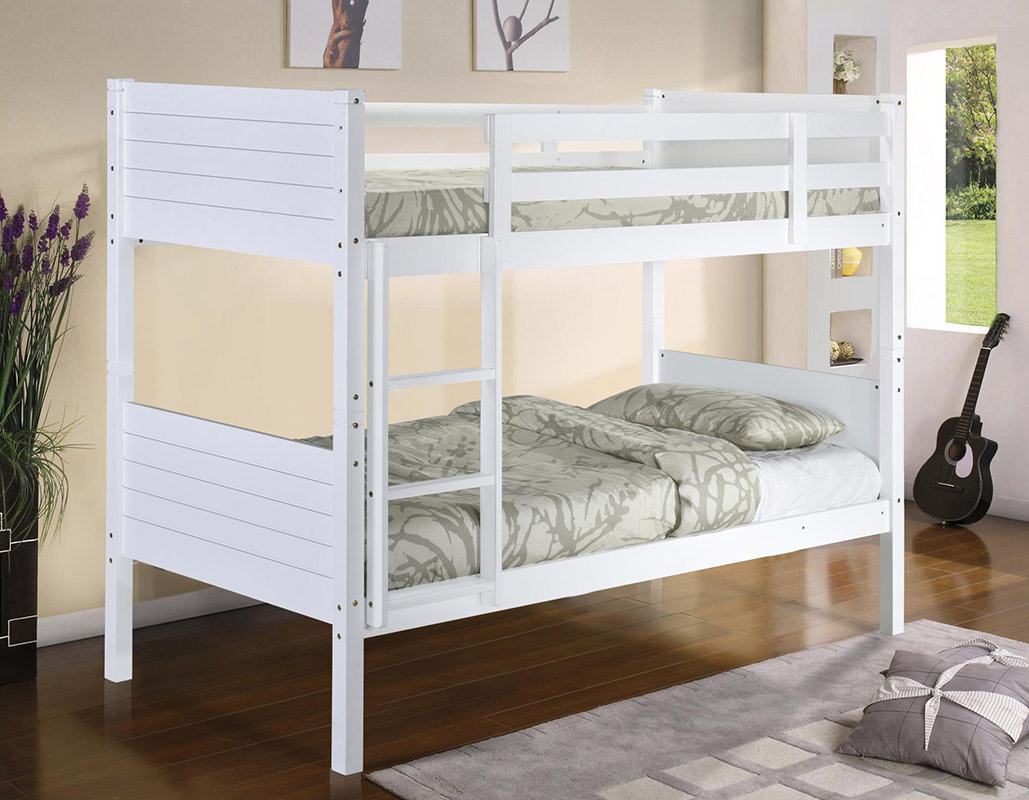 Castleton Solid White Wooden Bunk Bed