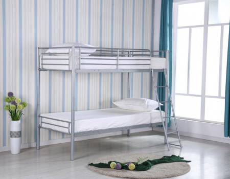 Himley Metal Bunk Bed In Silver Or White