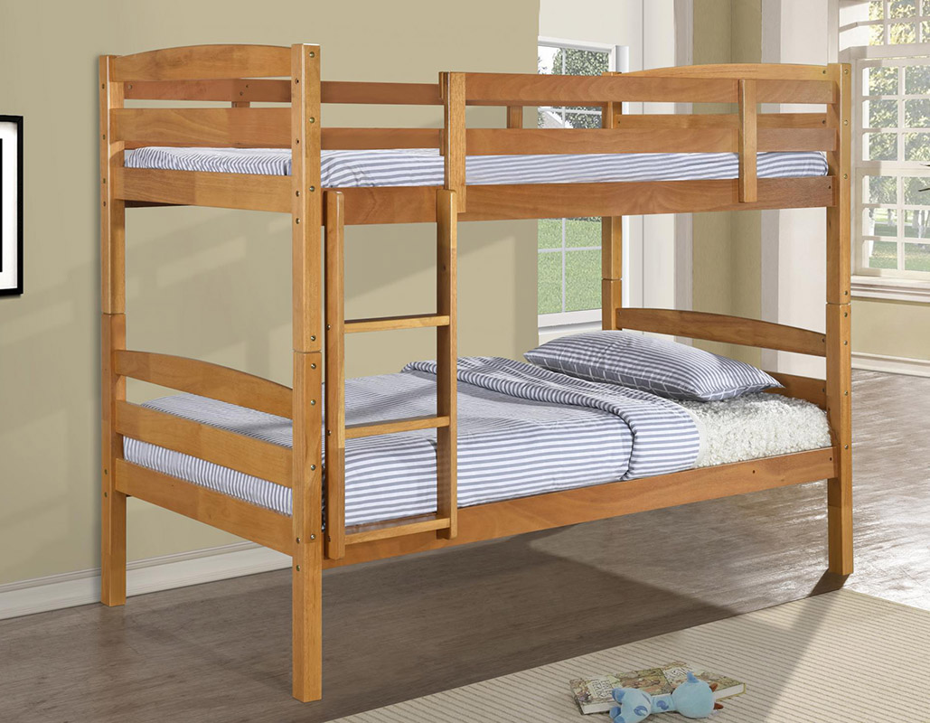 Tripoli Solid Wooden Bunk Bed Set Beds Net