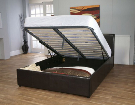 Savona Faux Leather Storage Bed