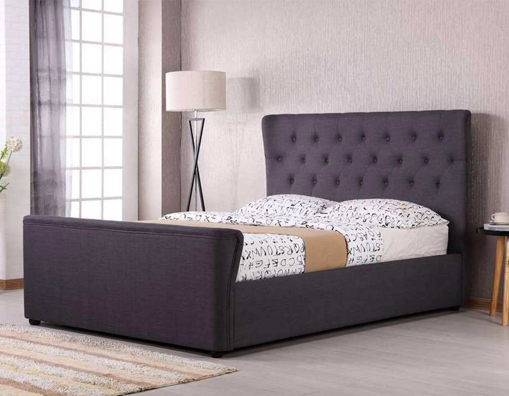 Wakefield Button Bed Set In Grey Or Beige