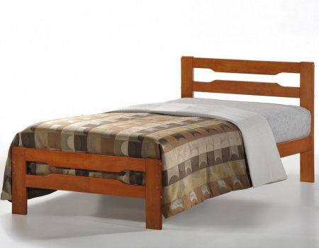 Amelia Solid Wood Bed In Cherry Or Natural