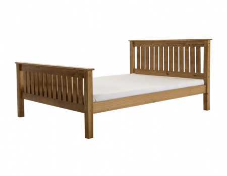 Manila Wooden Bed Set With High Footboard