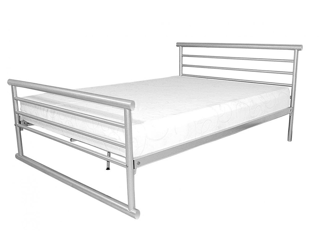 Bambi Silver Metal Bed Set