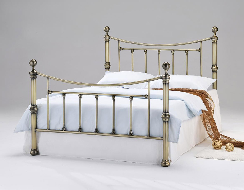 Charlotte Antique Brass Metal Bed