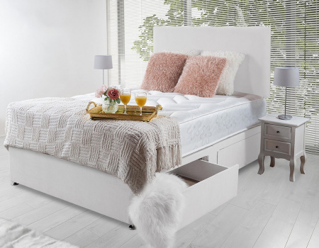 Victoria Quilted Orthopaedic Open Spring Bed Set