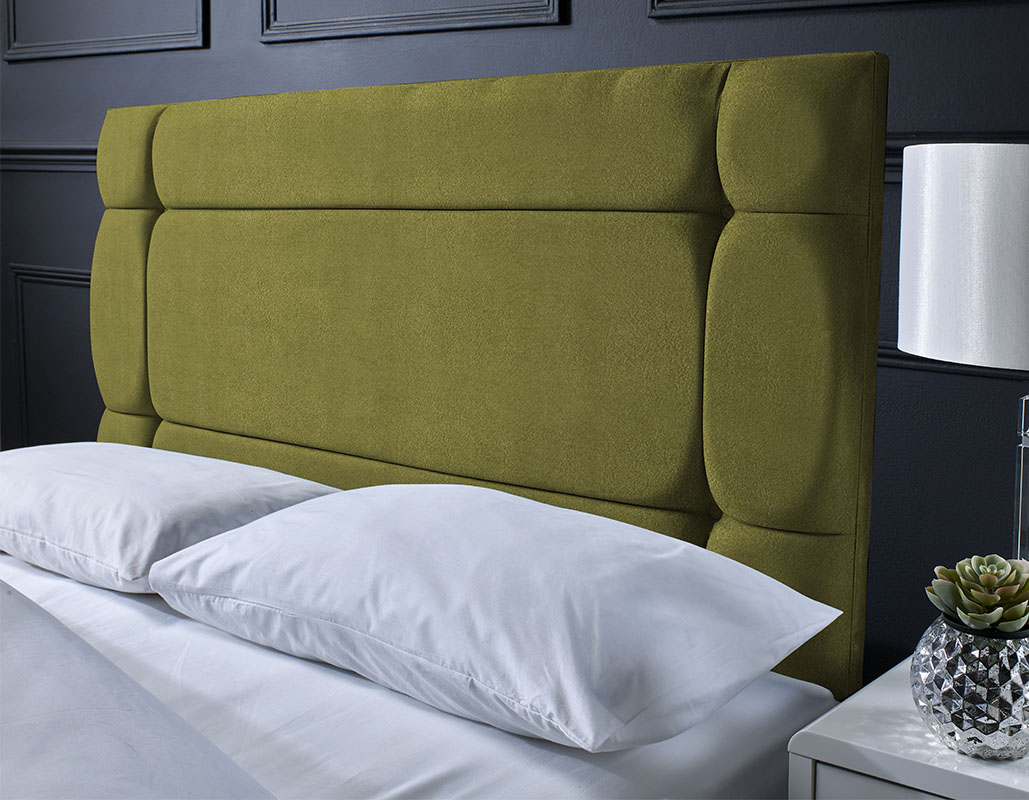 York Suede Button Headboard
