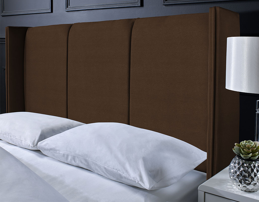 Keighley Suede Floor Standing Panel Headboard