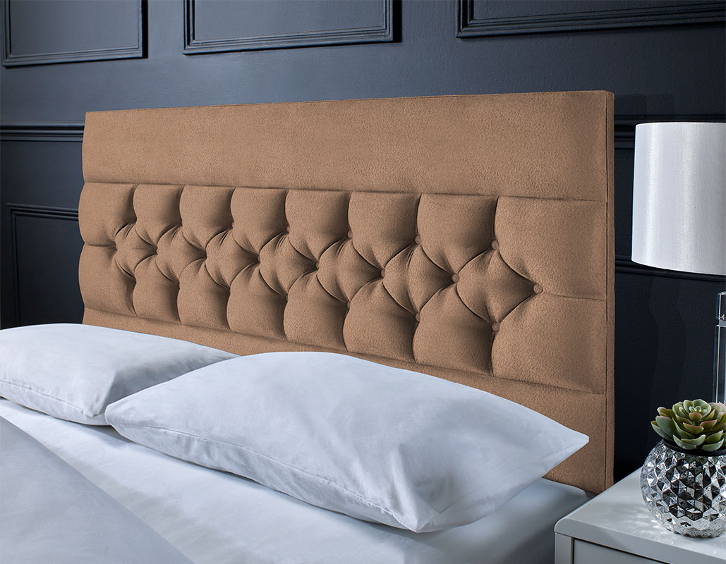 Whitley Suede Button Headboard