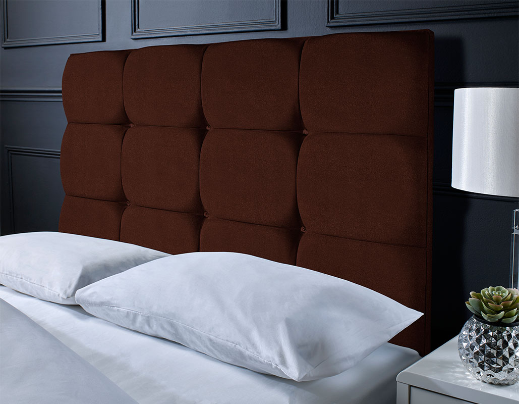 Didcot Suede Cubed Headboard
