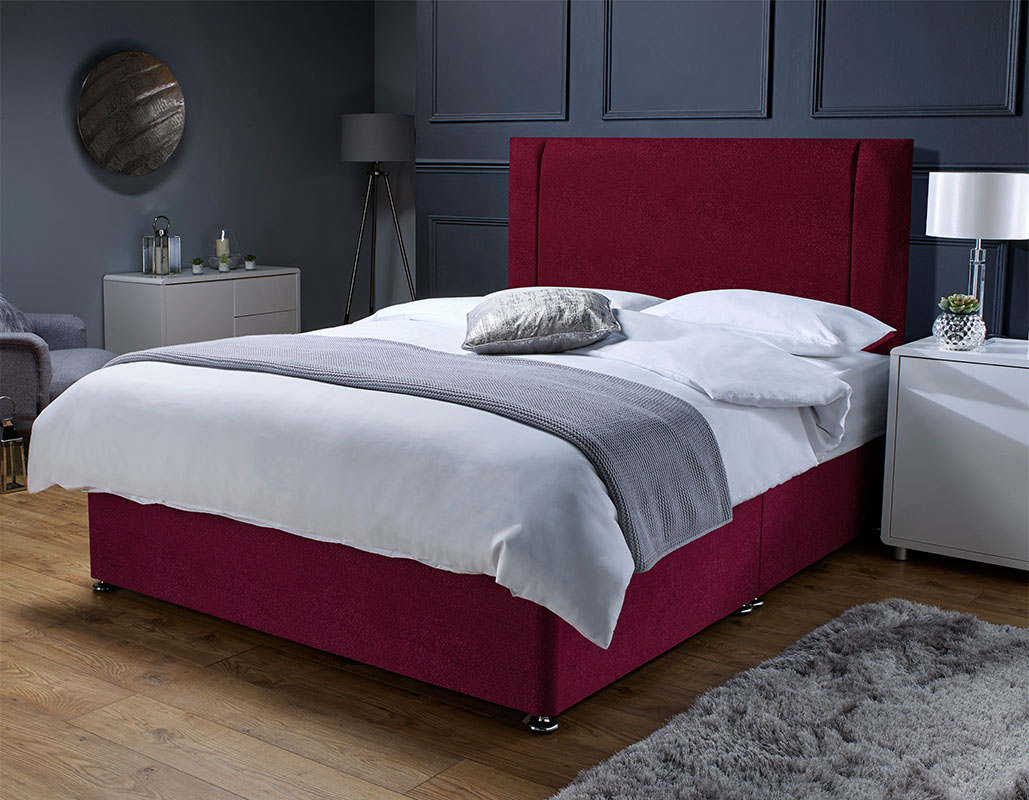 Horsforth Memory Foam Sprung Suede Divan Set