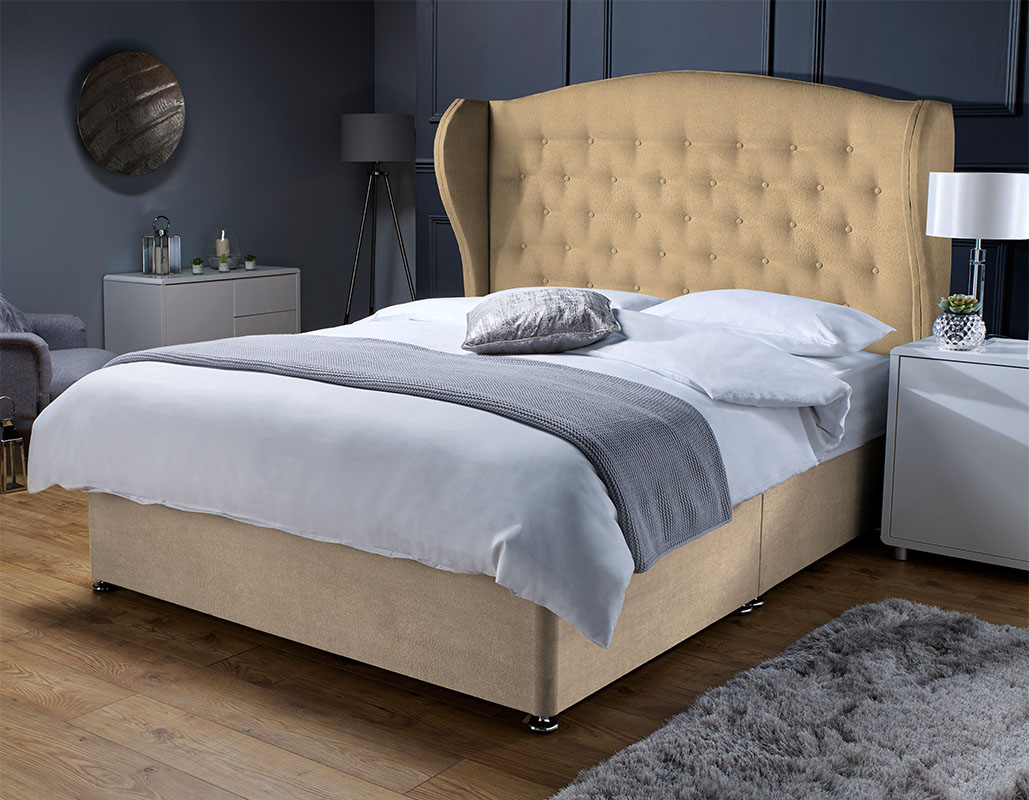 Kingston Memory Foam Sprung Suede Divan Set