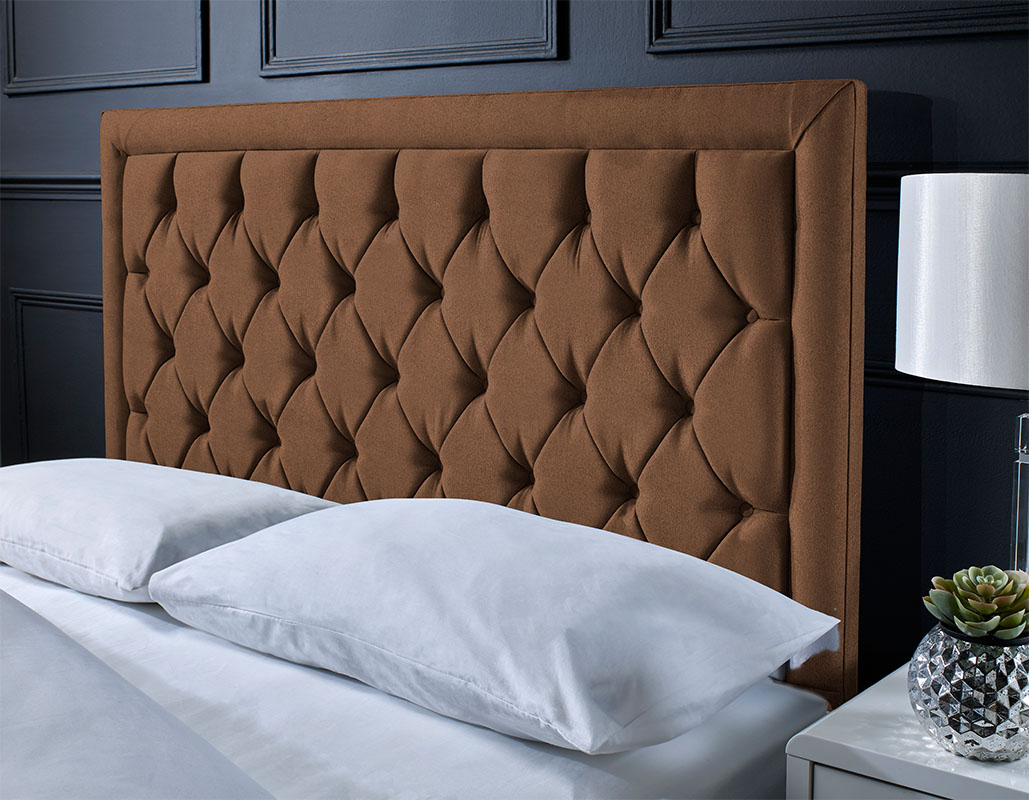 Chard Button Suede Headboard